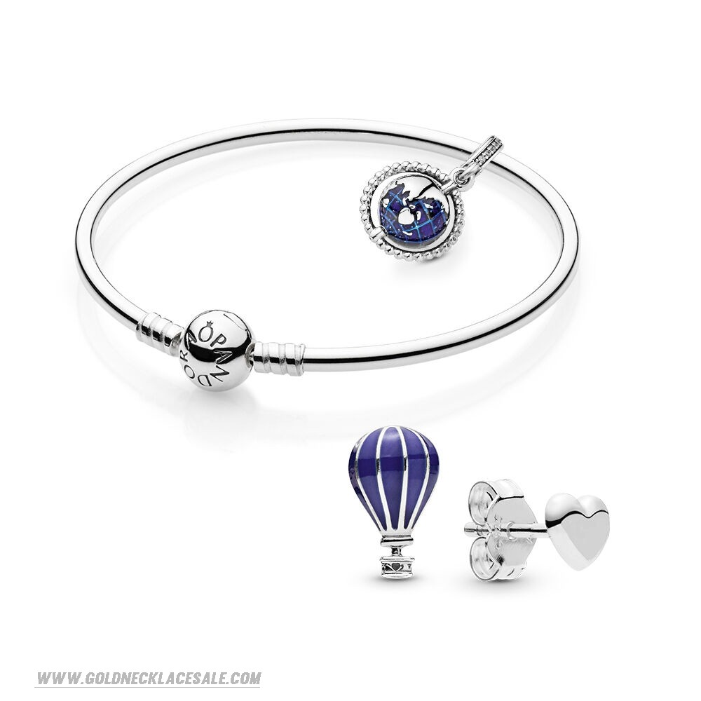 Jewelry Promo Travel The Globe Bracelet And Earring Set
