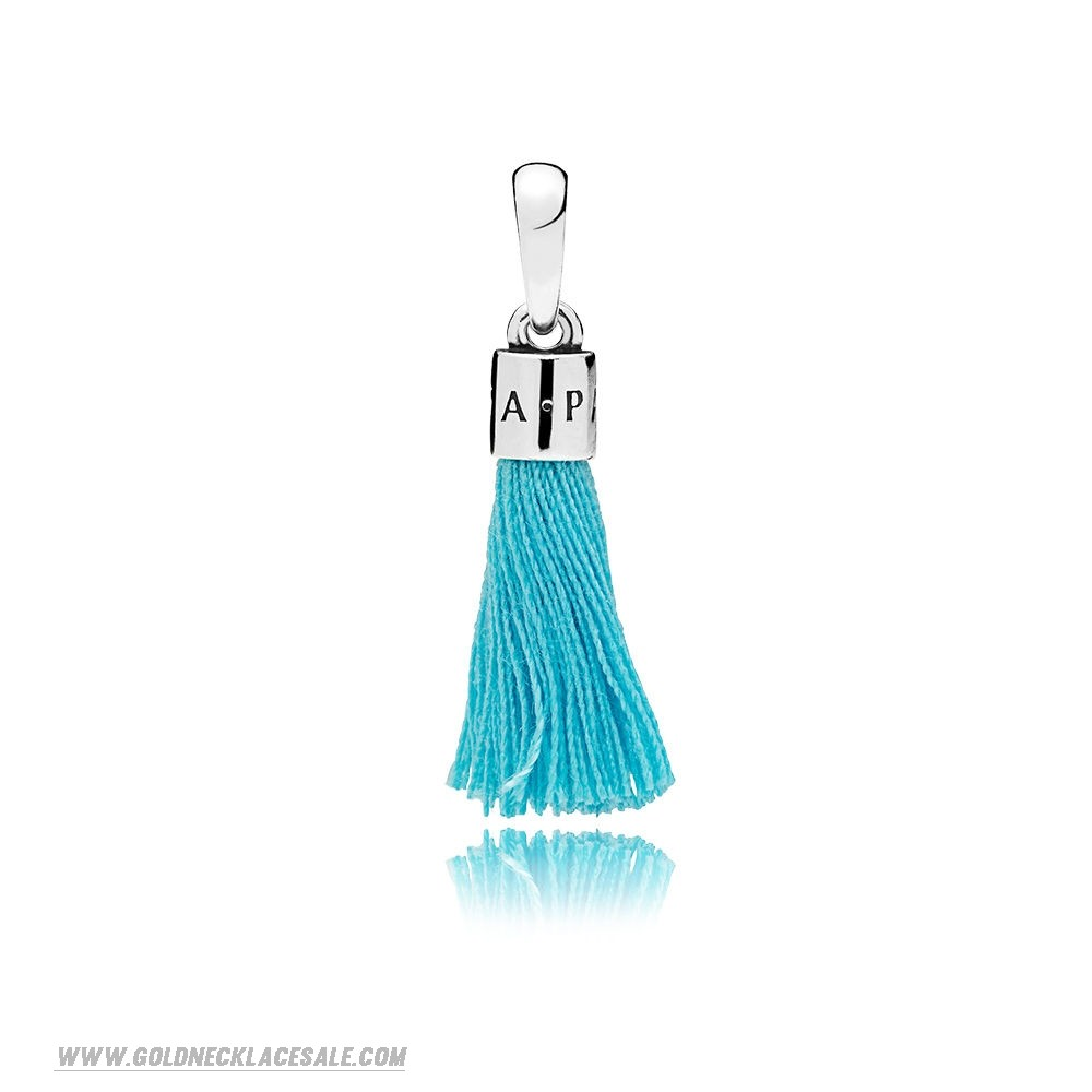 Jewelry Promo Turquoise Fabric Tassel Dangle Charm