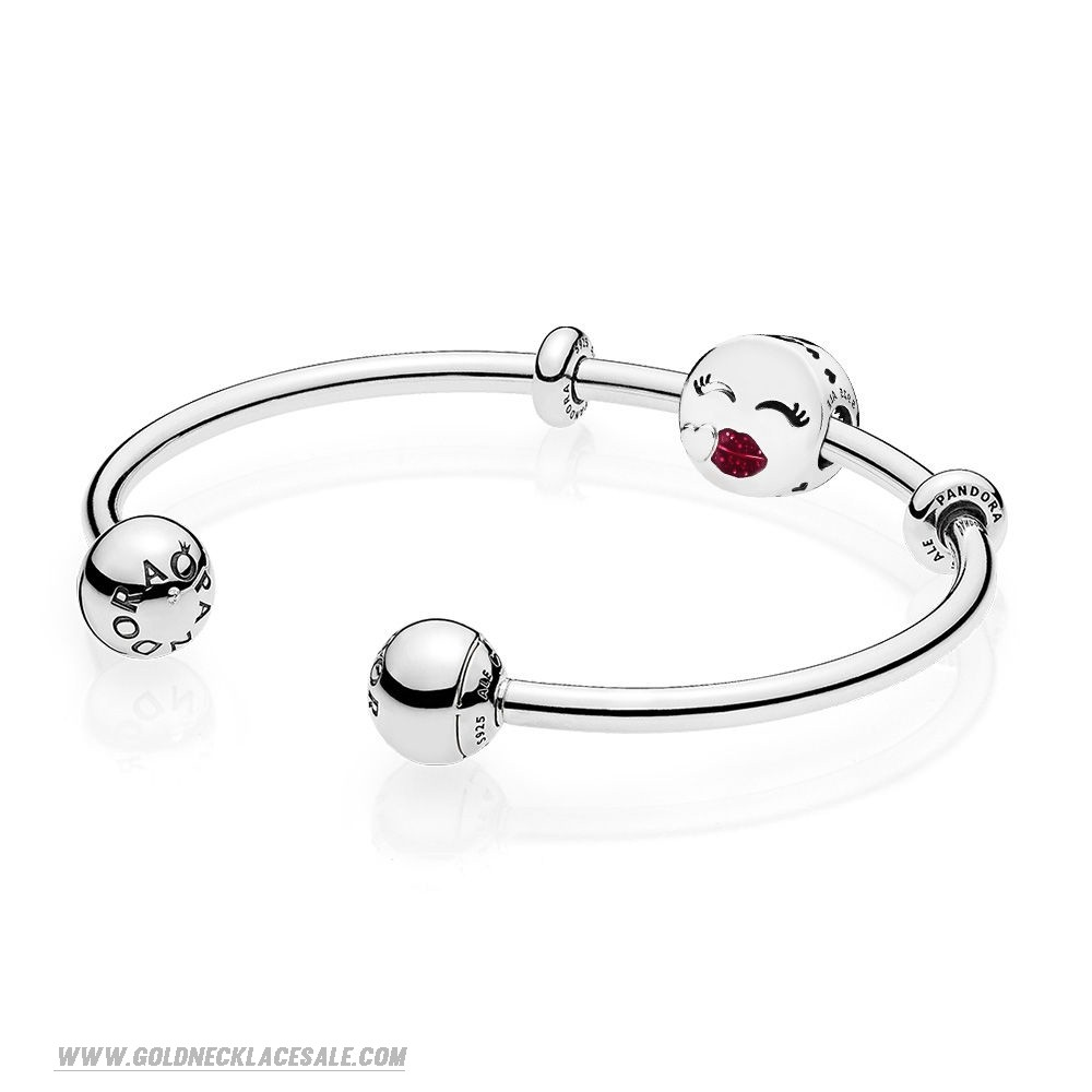Jewelry Promo Cute Kiss Open Bangle Gift Set