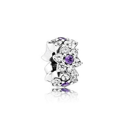 Jewelry Promo Pandora Spacers Charms Forget Me Not Spacer Purple Clear Cz